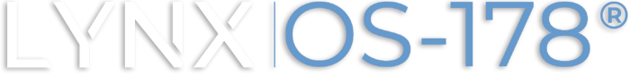 LynxOS-178® Logo white blue drop shadow